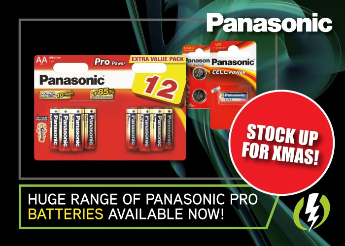 Panasonic Pro Batteries Available Now