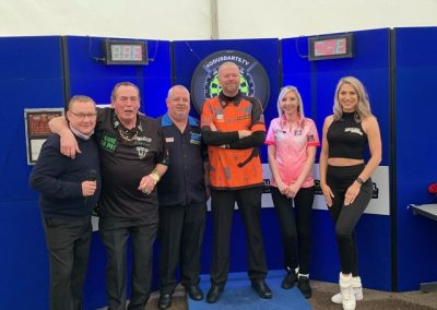 CEL Open Day 2020 RVB Fallon Sherrock Rob Thornton Bobby George