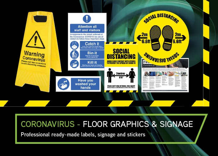 CEL-Corona-Floor-Graphics signage available now
