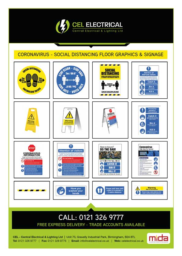 Corona-floor-graphics-signage-stickers