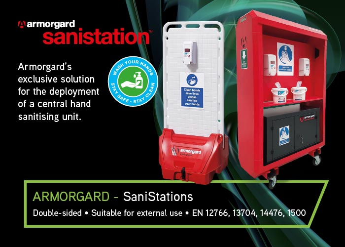 Armorgard SaniStations – Central Hand Sanitising Units