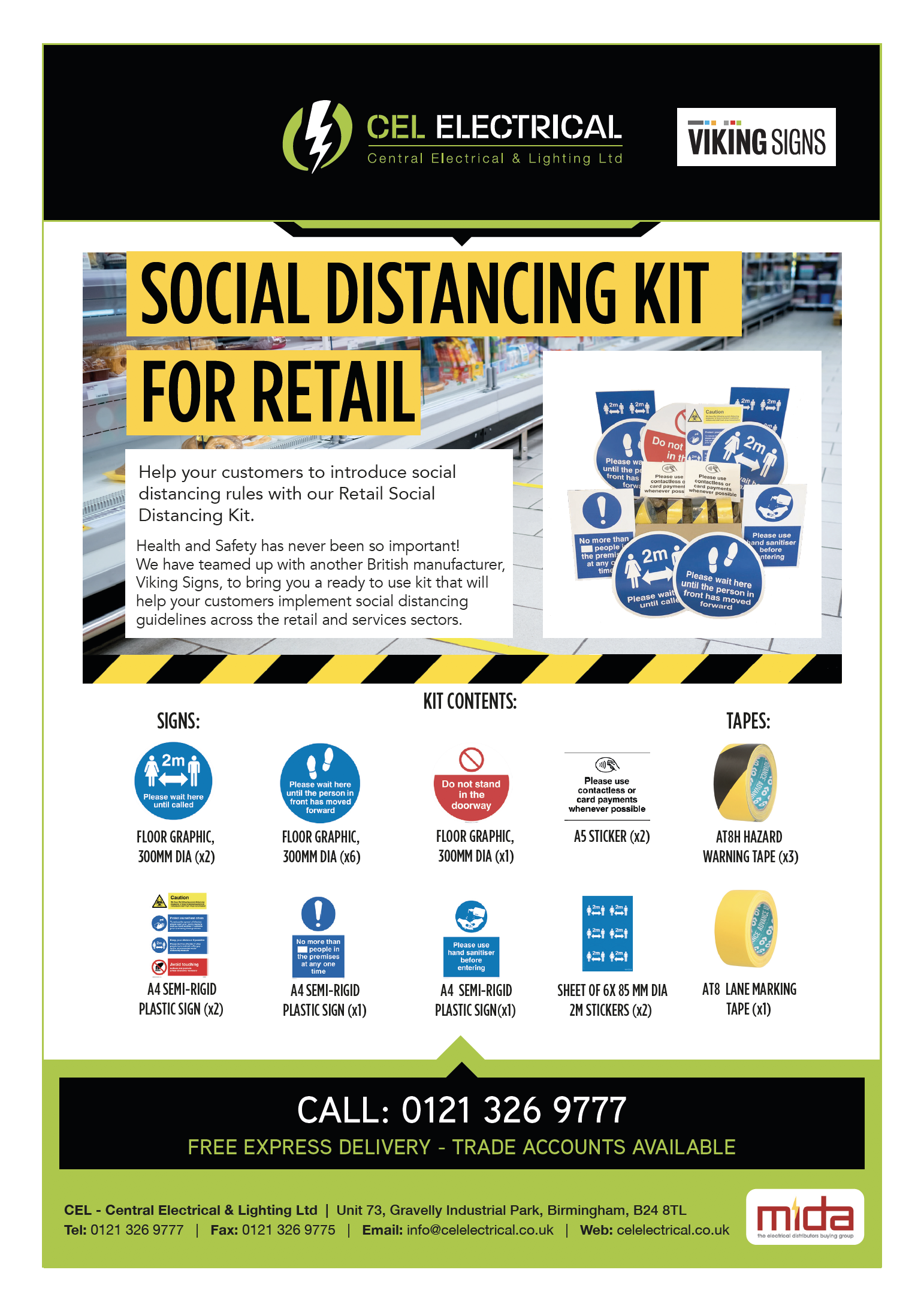 Social Distancing Retail Kit