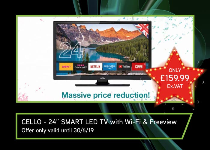 CEL Electrical Offer – CELLO 24″ Smart TV