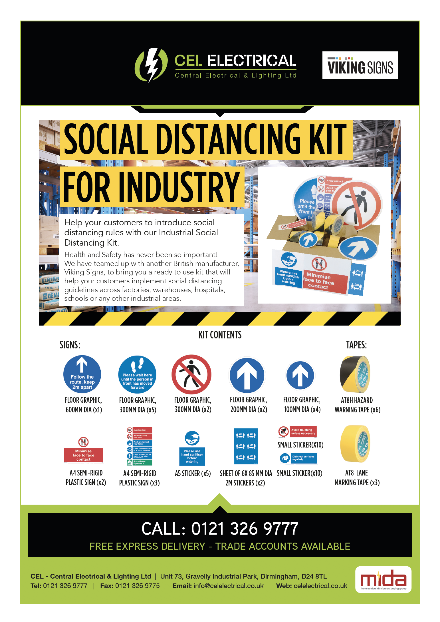 Social Distancing Industrial Kit