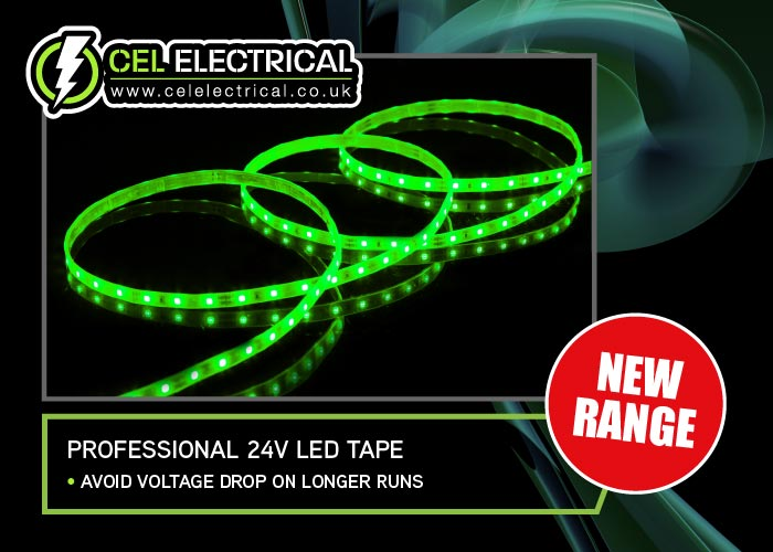 Professional 24V LED Tape Available Now at CEL Electrical