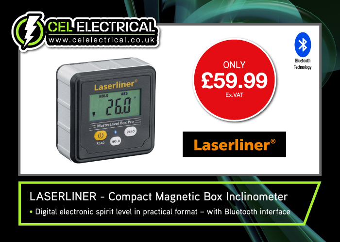 Laserline Compact Magnetic Box Inclinometer – Bluetooth