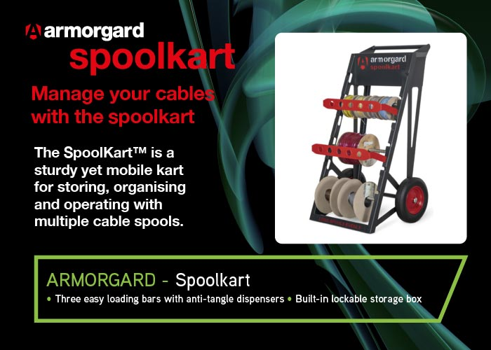 Armorgard Spoolkart Cable Management