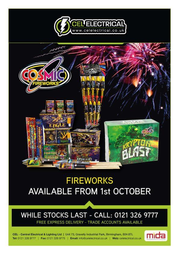 cosmic fireworks on sale at CEL Electrical
